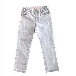 Girls Light wash Skinny Jeans 4T